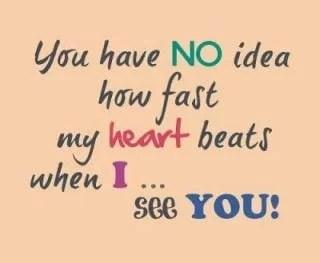 you-have-no-idea-how-fast-my-heart-beats ketika saya melihat Anda whatsapp dp