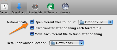 how to use dropbox for bittorrent