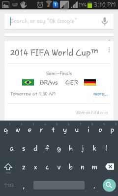android L keyboard screenshot