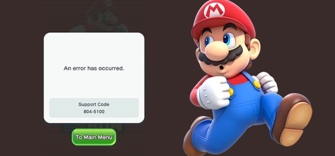 super-mario-run-support-code-error
