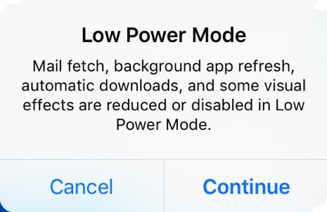 phone battery life low power mode