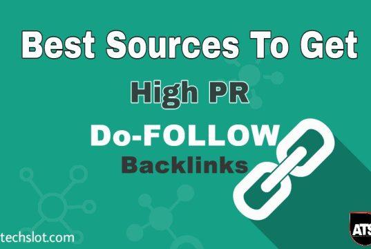 Get High PR Dofollow backlinks