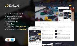 JD Dallas – Professional Business Joomla Template