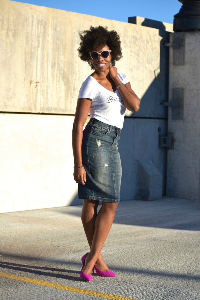express-graphic-tee-denim-skirt