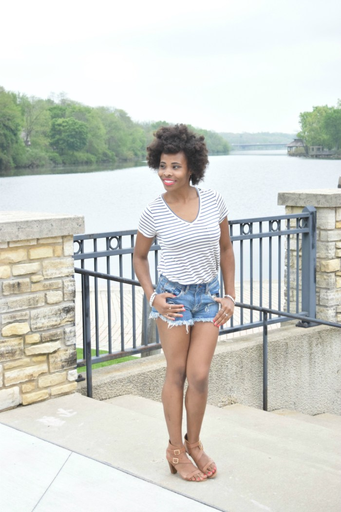 casual-striped-tee-denim-shorts