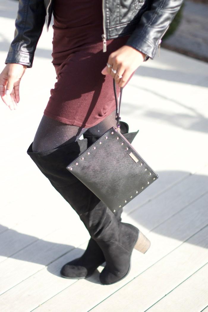 black-studded-wristlet