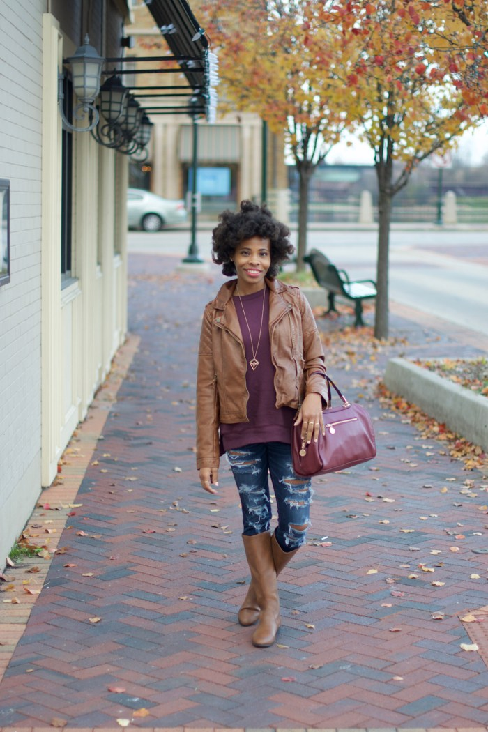 maroon-and-caramel-outfit