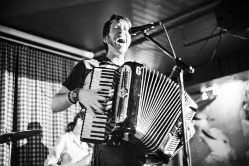 """Julian """"Julz-A"""" Hintz rockin the accordion for Squeeze Rock"""
