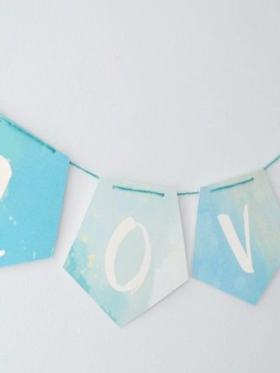 Wedding Printable: Pretty Watercolour Love Banner