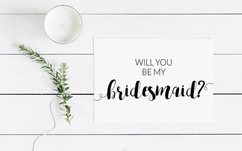 Modern Minimalist Will You Be My Bridesmaid Free Printable Card