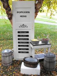 Popcorn Menu Door   All the Rage Decor