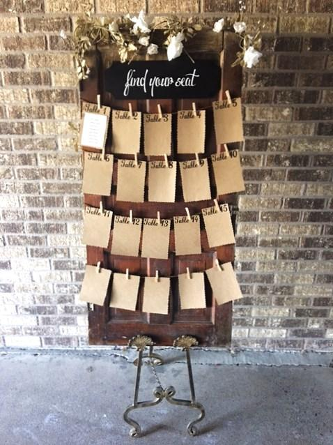 Seating chart  floor easel set also all the rage decor rh alltheragedecor