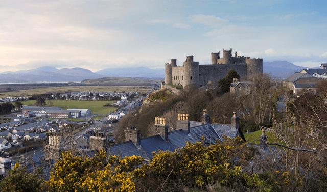 Harlech Castle in wales