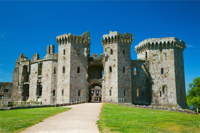 Raglan Castle in wales
