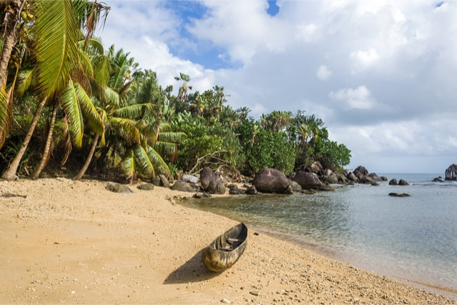 Sainte-Marie beach in madagascar