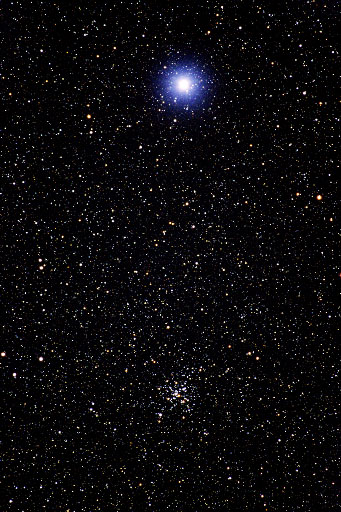 M41 and Sirius  Star Clusters  Digital Images of the Sky