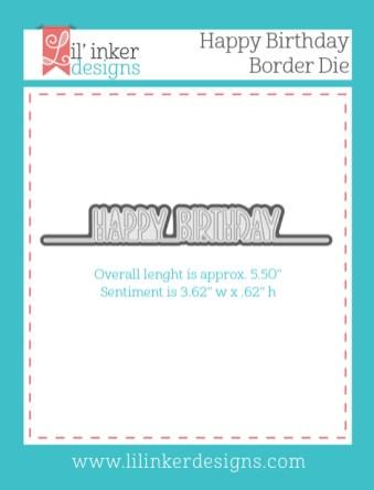 Happy Birthday Border Die