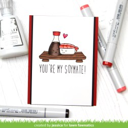 You're My Soymate by Jessica Frost-Ballas for Lawn Fawnatics