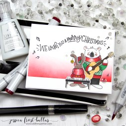 We Wish You a Merry Christmas by Jessica Frost-Ballas for Simon Says Stamp