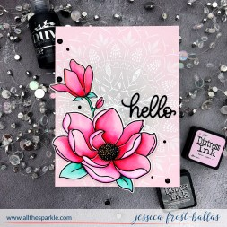Hello by Jessica Frost-Ballas for Avery Elle and Simon Says Stamp