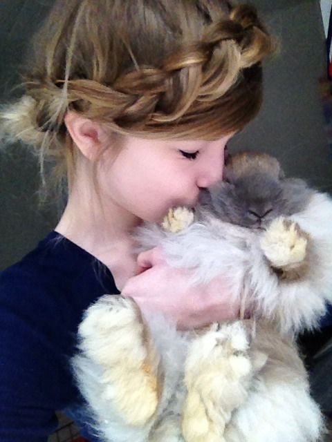 bunny and a girl