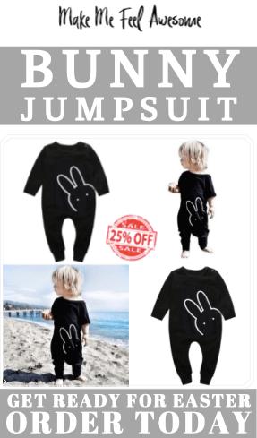 baby bunny romper jumpsuit