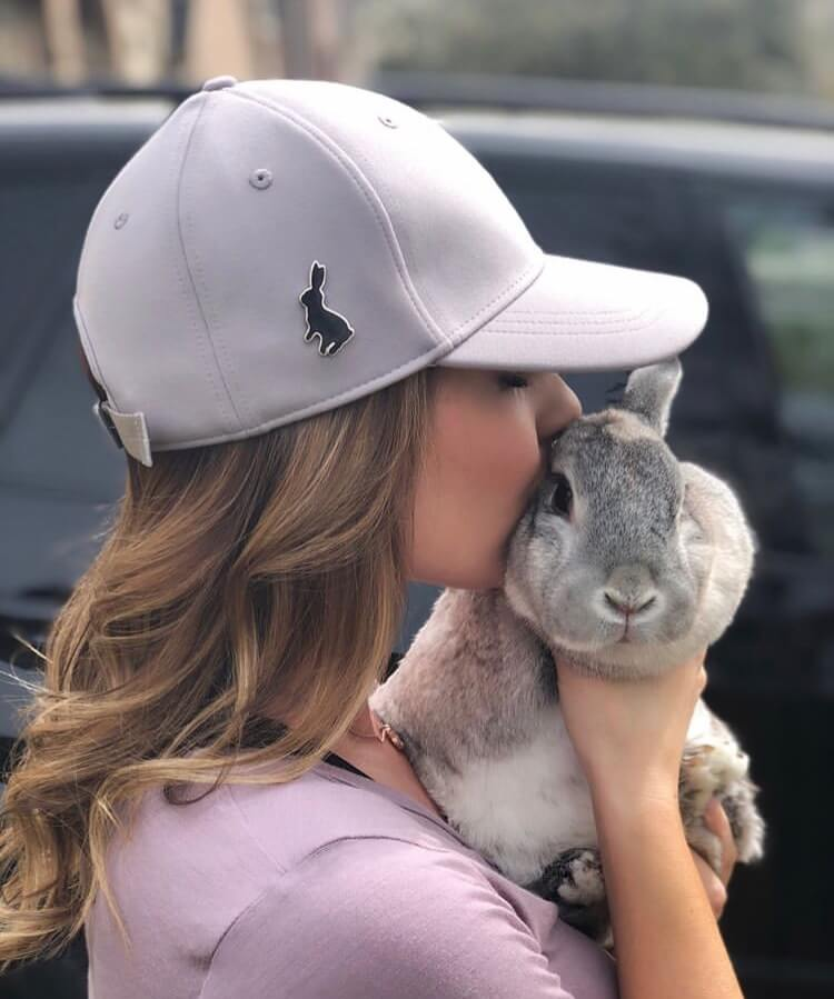 funny bunny pose with mummy