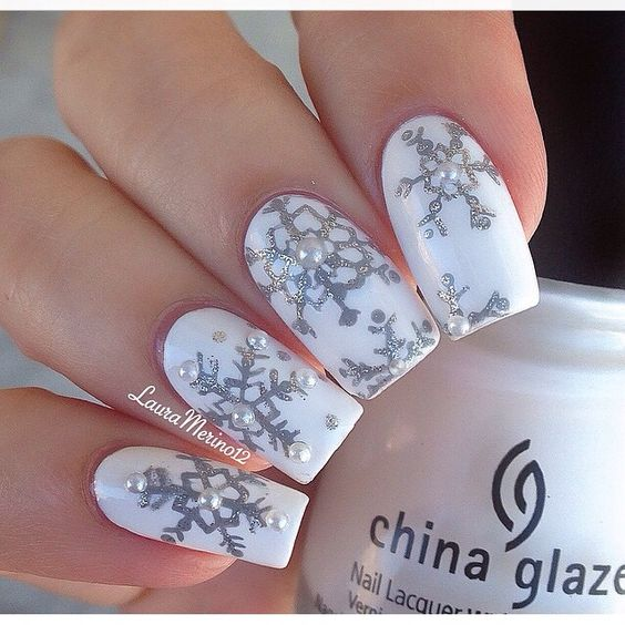 winter nails - 37 ideas