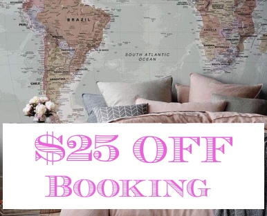 25 dolars off booking