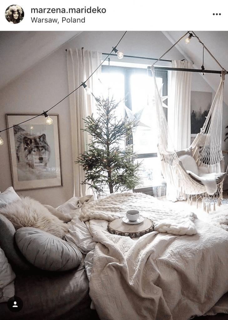 Cosy winter bedroom