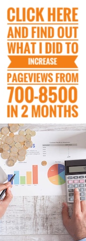 Find out what I did to increase my pageviews from 700 to 8500 within 2 months