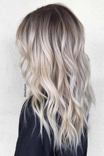 ideas to go blonde icy long balayage. Black Bedroom Furniture Sets. Home Design Ideas