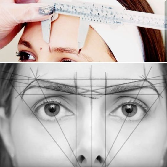 symetrical brow ruler