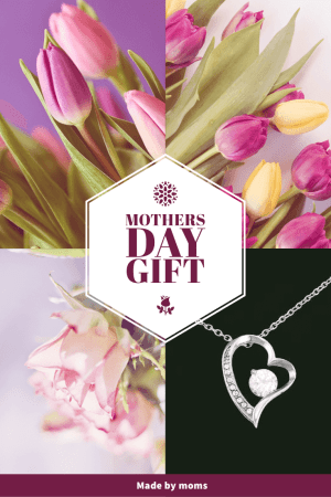 mothers day gift jewelry for mom necklace gold heart