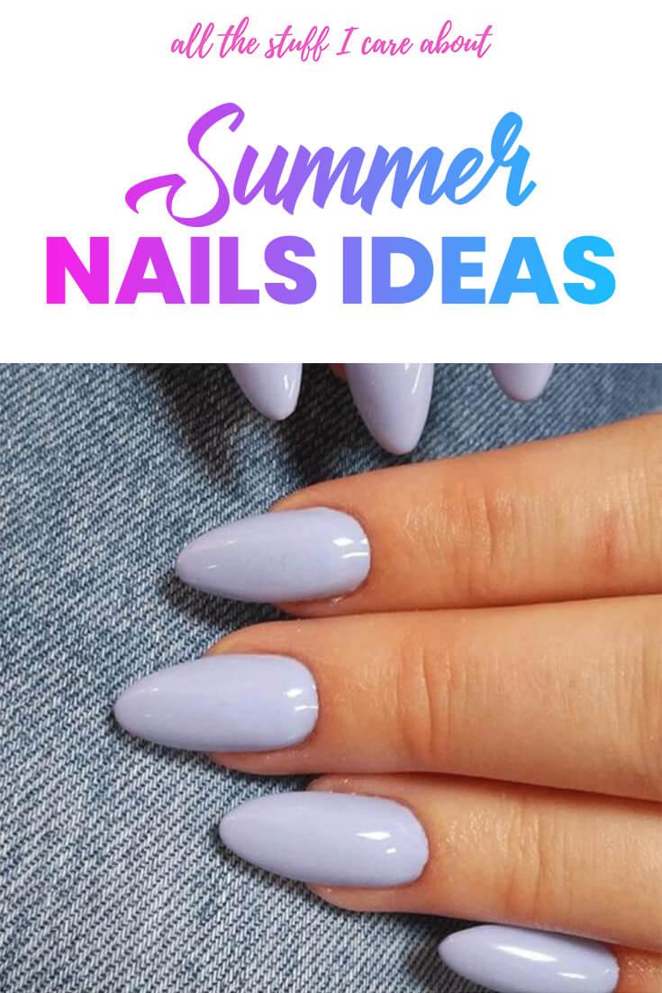 Summer nails ideas | allthestufficareabout.com Summer Nail Designs, summer nails,nude nails, pink nails, acrylic nails, coffin nails, square nails, nail design, simple matte nail design, glitter nails, shellac nail, nail polish, color nail design, glitter nail design, classy nails, almond nails, round nails, short nails, long nails, burgundy nails, white nails, nail art, nail ideas, long nails, elegant nail art, sparkly nail art, summer pedicure, coffin nails, christmas nails #nails #manicure #summernails
