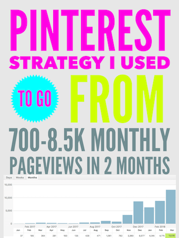 Pinterest strategy I used to go from 700- 8.5k monthly page views in 2 months