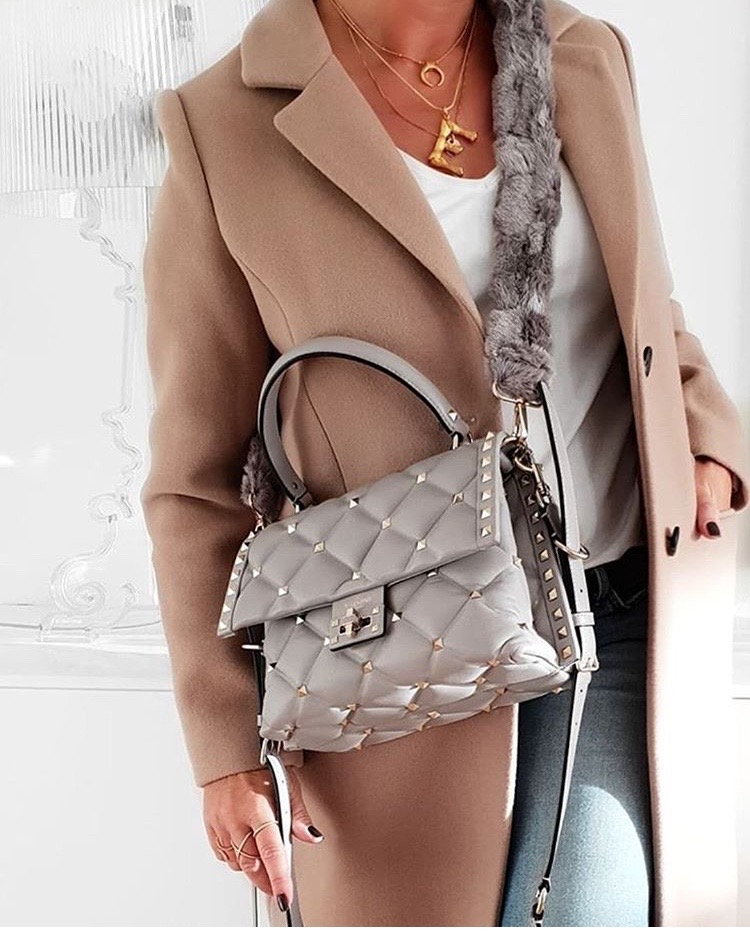 Valentino Garavani coffee handbag luxury