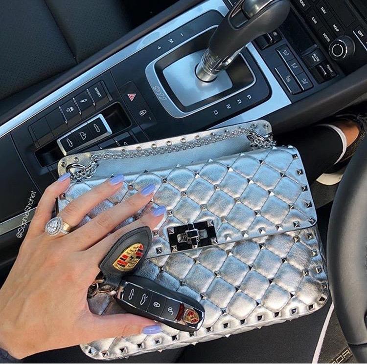 Valentino Garavani silver handbag luxury