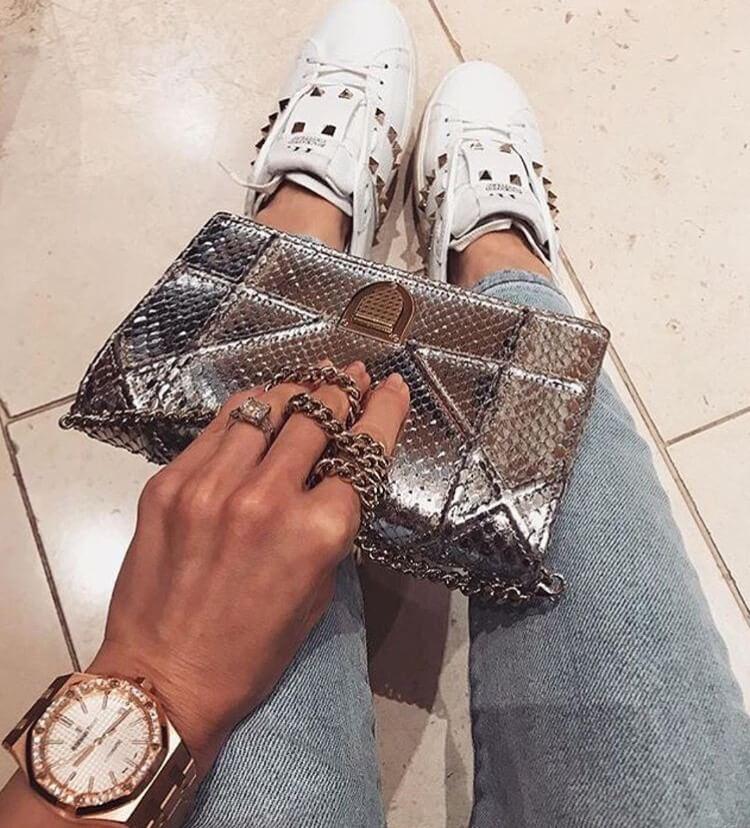 valentino garavani rockstud luxury white sneakers dior