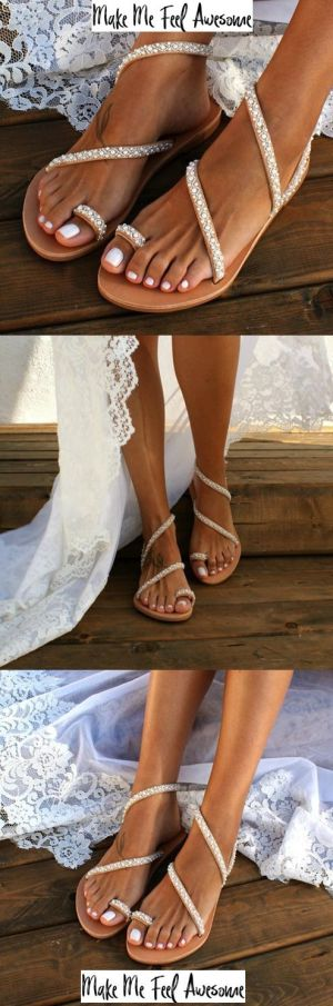 wedding sandals bohemian