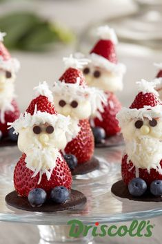 Strawberry Santa Christmas Dessert