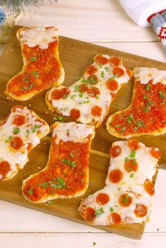 christmas pizza stocking party idea