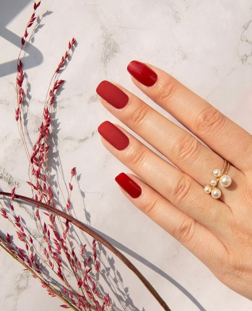 wedding classic red nails ideas manicure