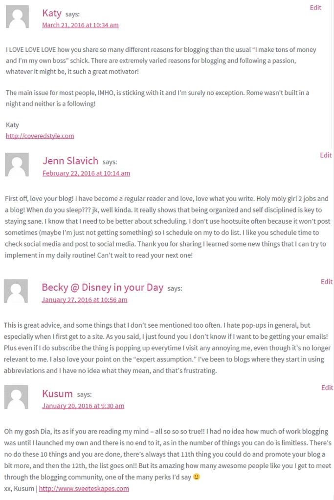 Great Blog Comments