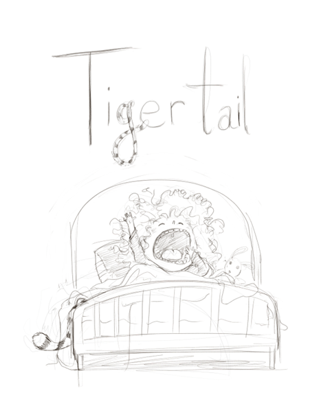 First Sketch of Final Tiger Tale Book