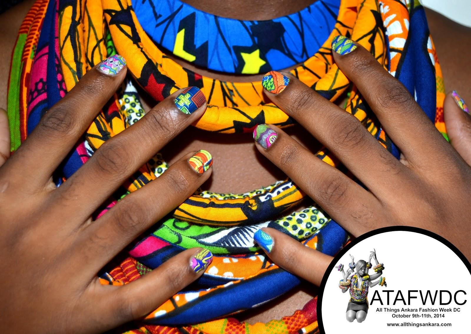 nails ankara print fabric