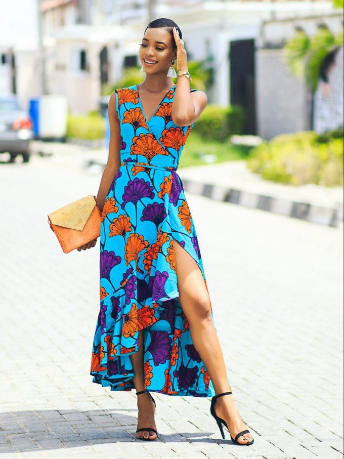 Ankara Product Of The Day Muni Wrap Dress By Nuraniya