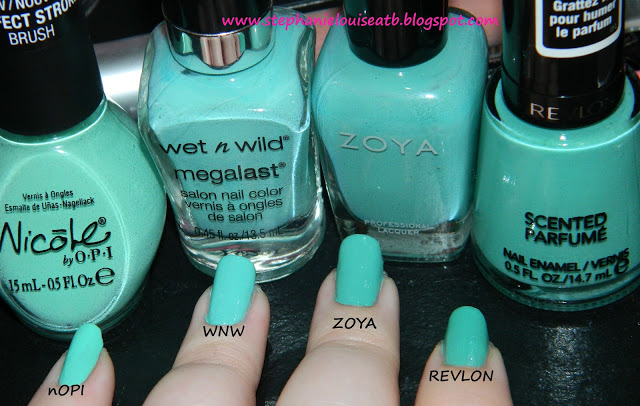 My Favorite Mint Polishes for Spring from All Things Beautiful XO