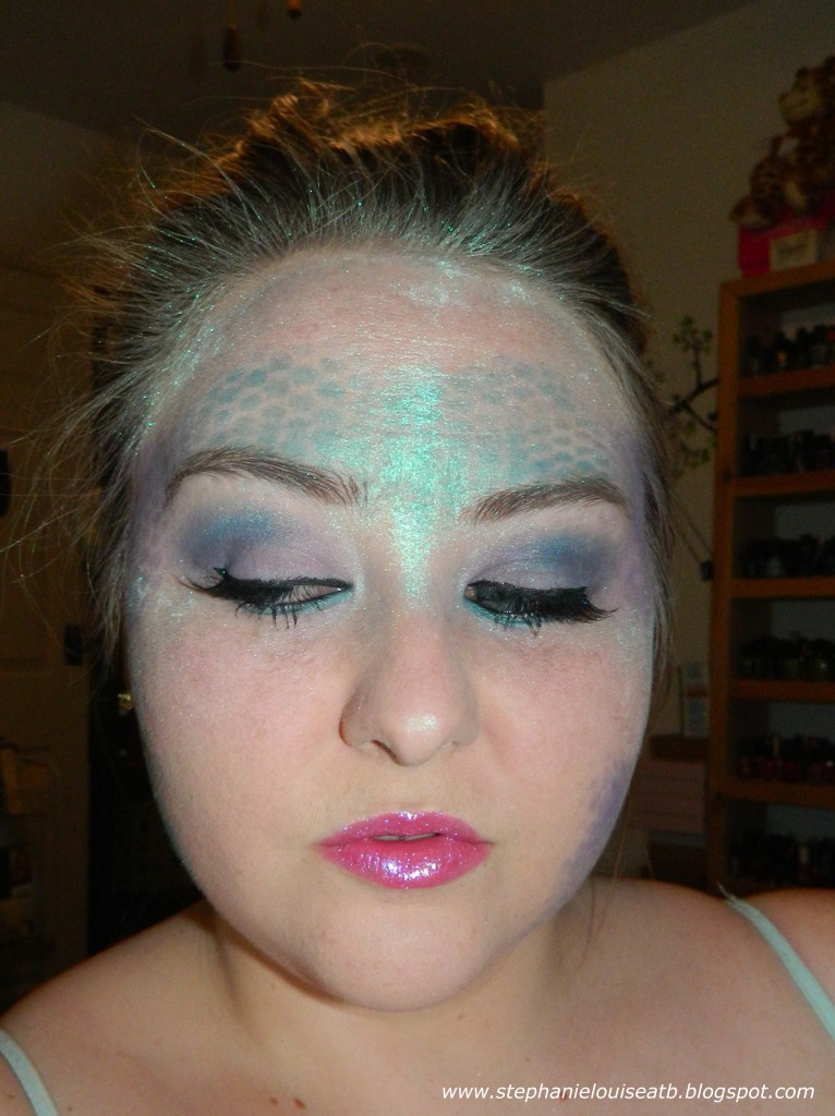 Great Drugstore Foundation: Drugstore Mermaid Costume Makeup Tutorial- With Scales