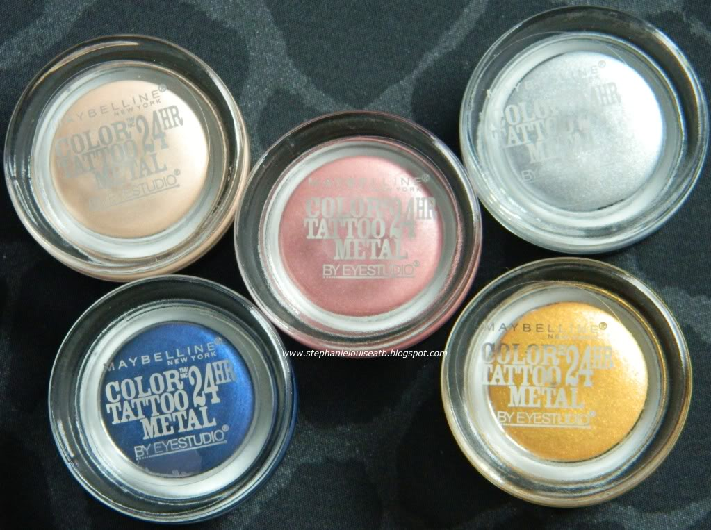 NEW Maybelline Color Tattoos Metal Collection Review & Swatches!